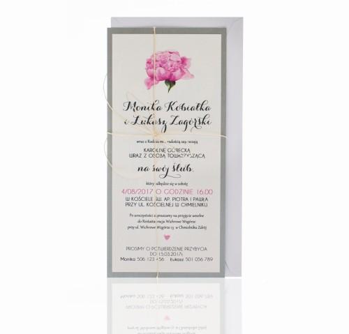 Kwiatowe Zaproszenia ślubne Kolekcja Emily Naszapracowniapl